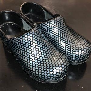 Dansko black blue shoes nurse 36 size 6